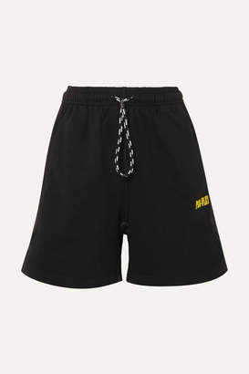 adidas By Alexander Wang - Printed Cotton-terry Shorts - Black