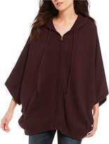 UGG Sweater Knit Zip-Up Poncho