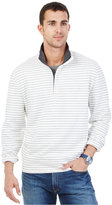 Nautica Striped Quarter-Zip Collar Fleece