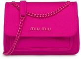 Miu Miu tonal logo plaque shoulder bag