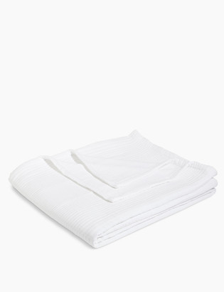 Marks and Spencer Cotton Mix Ribbed Quilted Throw