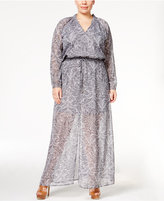 MICHAEL Michael Kors Size Printed Maxi Dress
