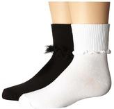 Jefferies Socks Ruffle & Ripple Edge 2-Pack (Infant/Toddler/Little Kid/Big Kid)