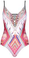 Seafolly Printed Plunge Swimsuit