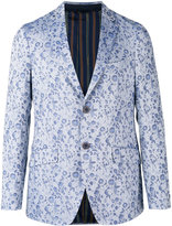 Etro floral jacquard two button jacket