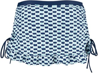 Cleo by Panache Panache Cleo CW0066 Swimwear Lucille Skirt / Skirted Bikini Pant / Brief Nautical Print (12)