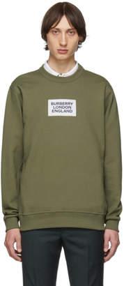 Burberry Khaki Square Logo Sweatshirt