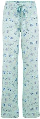 Sleepy Wilson Poppy Silk Pyjama Trousers In Glacier