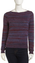 Bateau-Neck Sweater, Blue Moon