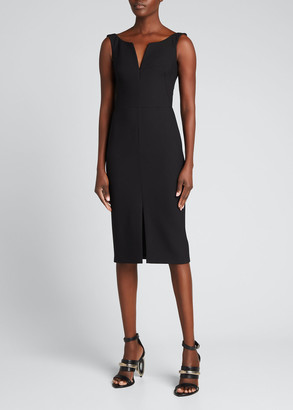 Alexander McQueen Sleeveless Pencil Sheath Dress