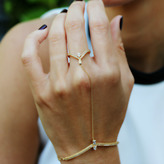 "Tana Chung ""Veractiy"" Diamond Hand Bracelet"