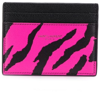 Saint Laurent animal print credit card case