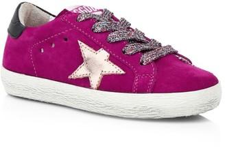 Golden Goose Baby's & Little Girl's Superstar Suede Sneakers