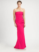 Nicole Miller Strapless Gown