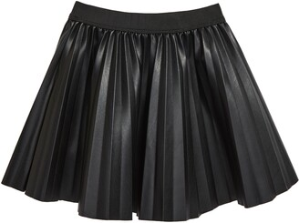 Truly Me Kids' Pleated Faux Leather Skirt