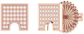 Lmj City Arches Stud Earrings In 14 Kt Rose Gold Vermeil On Sterling Silver