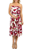 24/7 Comfort Apparel Sweet Climbing Rose Empire Waist Dress-Plus Maternity