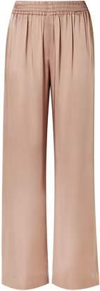 Jonathan Simkhai Lace-trimmed Satin Wide-leg Pants