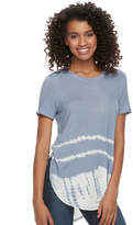 Mudd Juniors' Tie-Dye Shirttail Tee