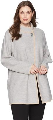 Calvin Klein Women's Plus Size Long Boil Wool Jackt