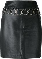 Jeremy Scott leather skirt - women - Sheep Skin/Shearling/Polyester - 40