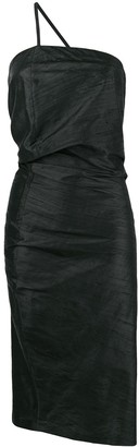 Romeo Gigli Pre Owned draped asymmetric midi dress