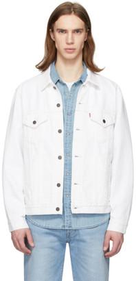 Levi's Levis White Denim Vintage Fit Trucker Jacket