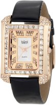 Burgi Women's BUR063RG Rectangular Crystal Watch