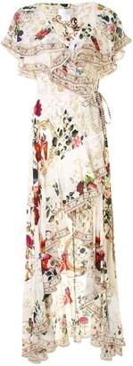 Camilla Frilled Asymmetric Silk Dress