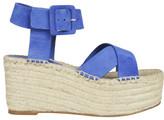 Celine Cross Strap Wedge Sandals