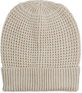 Barneys New York WOMEN'S WAFFLE-STITCHED WOOL-CASHMERE BEANIE-TAN