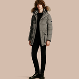 Burberry Down-filled Cashmere Parka With Detachable Fur Trim