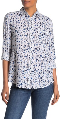 BeachLunchLounge Alana Printed Button Front Shirt