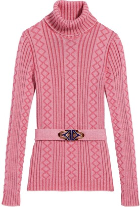 Marc Jacobs Belted Ribbed-Knit Jumper