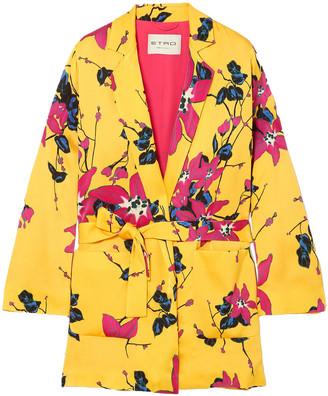 Etro Floral-print Crepe Blazer