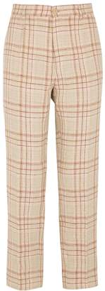 Forte Forte Checked Linen-blend Trousers