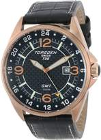 Torgoen Swiss Men's T25101 T25 GMT Rose-tone Date Aviation Watch
