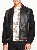 McQ Leather Bomber Jacket