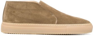 Doucal's Laceless Leather Desert Boots