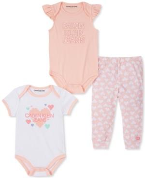 Calvin Klein Baby Girls Bodysuits Pants Set