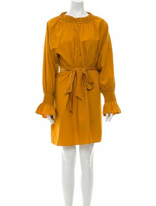 DÔEN Crew Neck Mini Dress Yellow Crew Neck Mini Dress