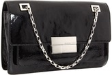 Michael Kors - Rectangular Shoulder Flap (Black Patent) - Bags and Luggage