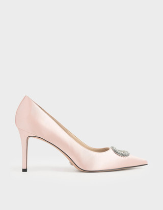 Charles & Keith Wedding Collection: Satin Embellished Court Shoes