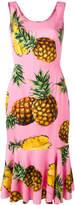 Dolce & Gabbana pineapple print peplum dress