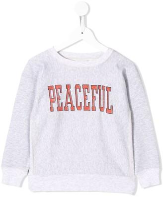 Go To Hollywood Peaceful-print sweatshirt