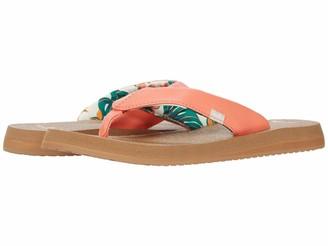 Sanuk Yoga Mat Floral Coral 7 B (M)