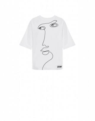 Moschino Jersey T-shirt Cornely Embroidery Woman White Size 38 It - (4 Us)