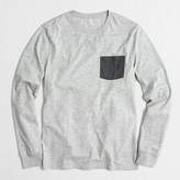J.Crew Factory slim long-sleeve contrast-pocket T-shirt
