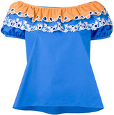 Peter Pilotto embroidered off-the-shoulder top - women - Cotton - 6