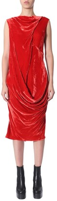 Rick Owens Ellipse Draped Dress